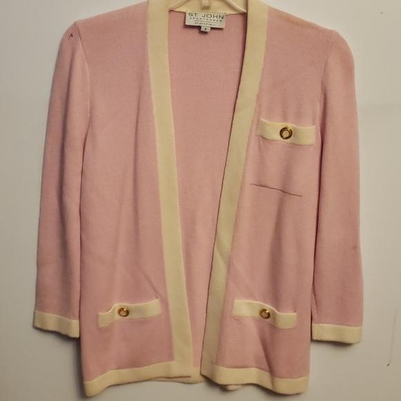 St John Sportswear Pink Sweater Jacket P